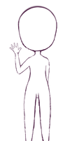 Pose Study #3- Chibi Waving by Aumae-chan