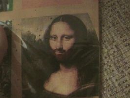 the mona lisa with beard by soyersoldier