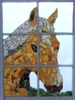 Stained Glass Horse Mosaic by Brettbrett51