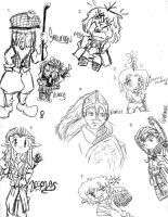 Lord of the Rings sketches 2 by wingfoot