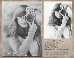 [Drawing pencil] 2013-12-13 [Portrait] by ke-vo-danh