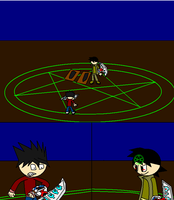 Bakel vs Tyler in a duel by Dell-AD-productions