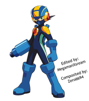 Megaman.EXE custom pose 1 by Mega-X-stream