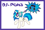 Dj Pon3 cutie mark by Pon3Splash