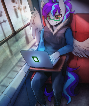 Working on the road by FoxInShadow