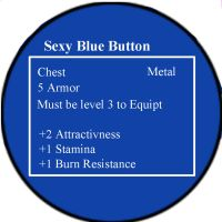 Sexy Blue Button by FoxTrotProducts