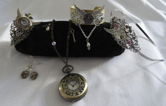 Steampunk Accessories by Sparkling-Sky
