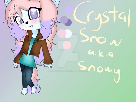 Crystal Snow ref sheet (description updated) by IcySnowy-Chan
