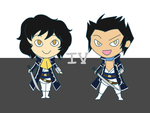 smt4 chibi duo by cinderhawk