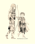 Elf and Hobbit by SilverTop