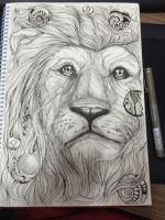 lion - doodle art by mr-Vy