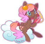 Ponysona Peachy-Geek by EvilQueenie