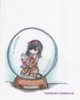 In a snow globe by puteriemily