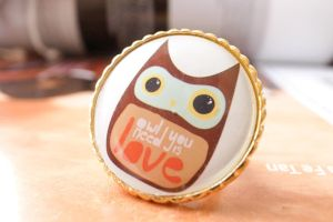 love love Owl Ring by rinknoi