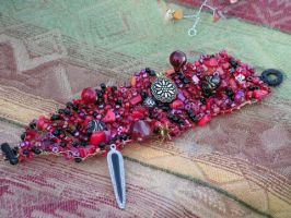 Tango - Hand Knitted Wire Bracelet by nightowl2704
