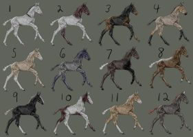 Bef's FREE Foal Adoptables - CLOSED! by Befera