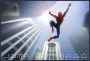 Spidey swinging by..... by joma33