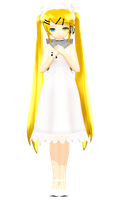 MMD - White Eve Rin DL by YellowDesuCake
