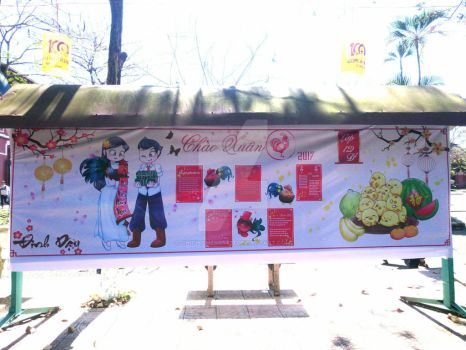 Lunar New Year 2017 Board-paper project by chichicherry123