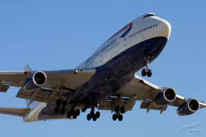 LAX 11 BA 747 by Atmosphotography