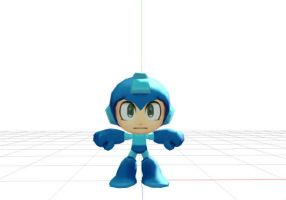 Megaman powered up MMD model by LukioMegurine