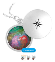Dreaming of Spring Custom Silver Plated Locket by tessieart333