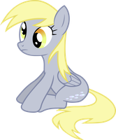 Sitting Derpy Hooves by strawberrythefox1452