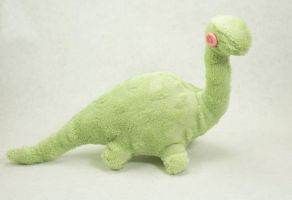 Minky Green Plush Dino by BeeZee-Art