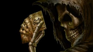 Skull With Cards by JohnnyX91