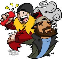 Jay and Silent Bob by greeneyez