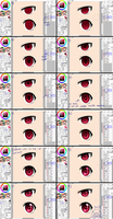 : How I color eye style : by PrinceOfRedroses
