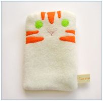 Ginger tabby cat cozy by restlesswillow
