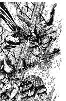 Batman vs Joker Final INKS by RudyVasquez