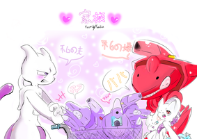 GenesectXMewtwo? by burrase