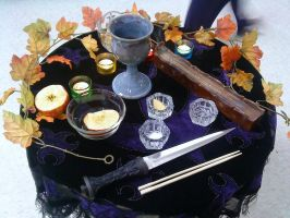 Mabon Altar by sesshys-jaded-samuri