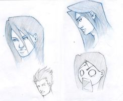 character sketches by Y-a-n