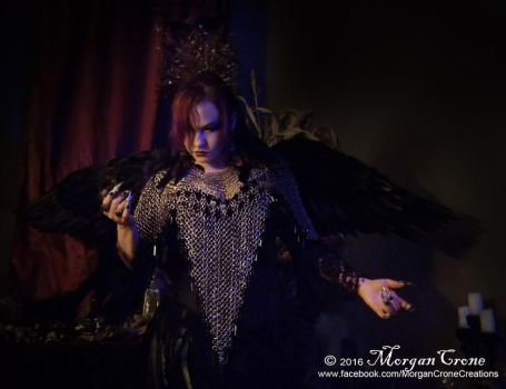 Queen of the Corvids Costume 10 by MorganCrone