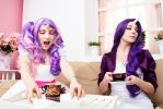 MLP sisters cupcake party II by scentless-flower