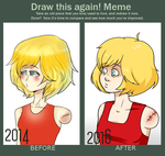 Aless Hart: Before and After by LunaticBoy07