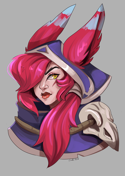 Xayah : req6 by Corelle-Vairel