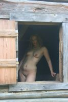 Nude in Window by candhphotography