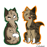 Dustkit And Caramelkit :. Huh! :. by SilverKitti