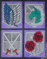 Attack on Titan Emblems by StrungHearts