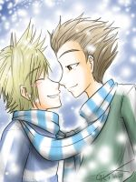 + Roxas X Hayner _ Snow_Val + by catrix-reload