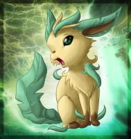 Leafeon the plant spirit by FireTailed