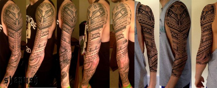 3-4 sleeve tattooed by shepush