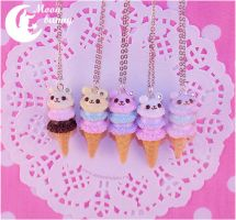 Sugar Baby bear Necklace by CuteMoonbunny