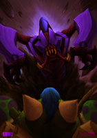 Once Rek'Sai detects you, your fate is sealed. by kinwii