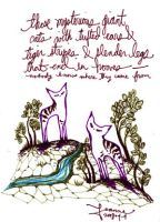 mysterious giant hooved cats by feanne