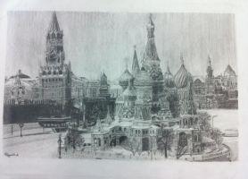 Red Square by NinDragonArt